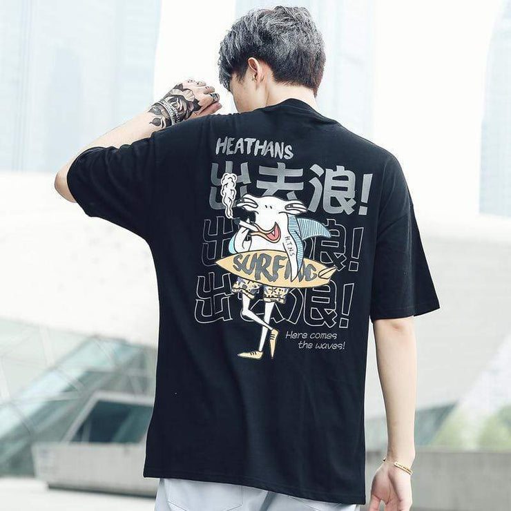 Surf T-Shirt Streetwear Brand Techwear Combat Tactical YUGEN THEORY