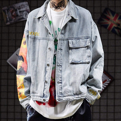 Van Gogh denim jacket Streetwear Brand Techwear Combat Tactical YUGEN THEORY