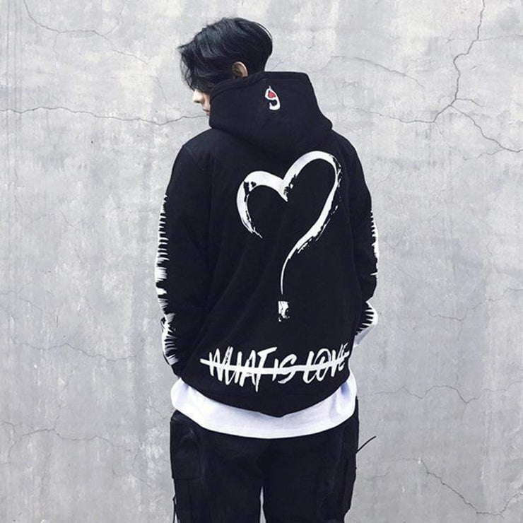 What Is Love Hoodie Streetwear Brand Techwear Combat Tactical YUGEN THEORY