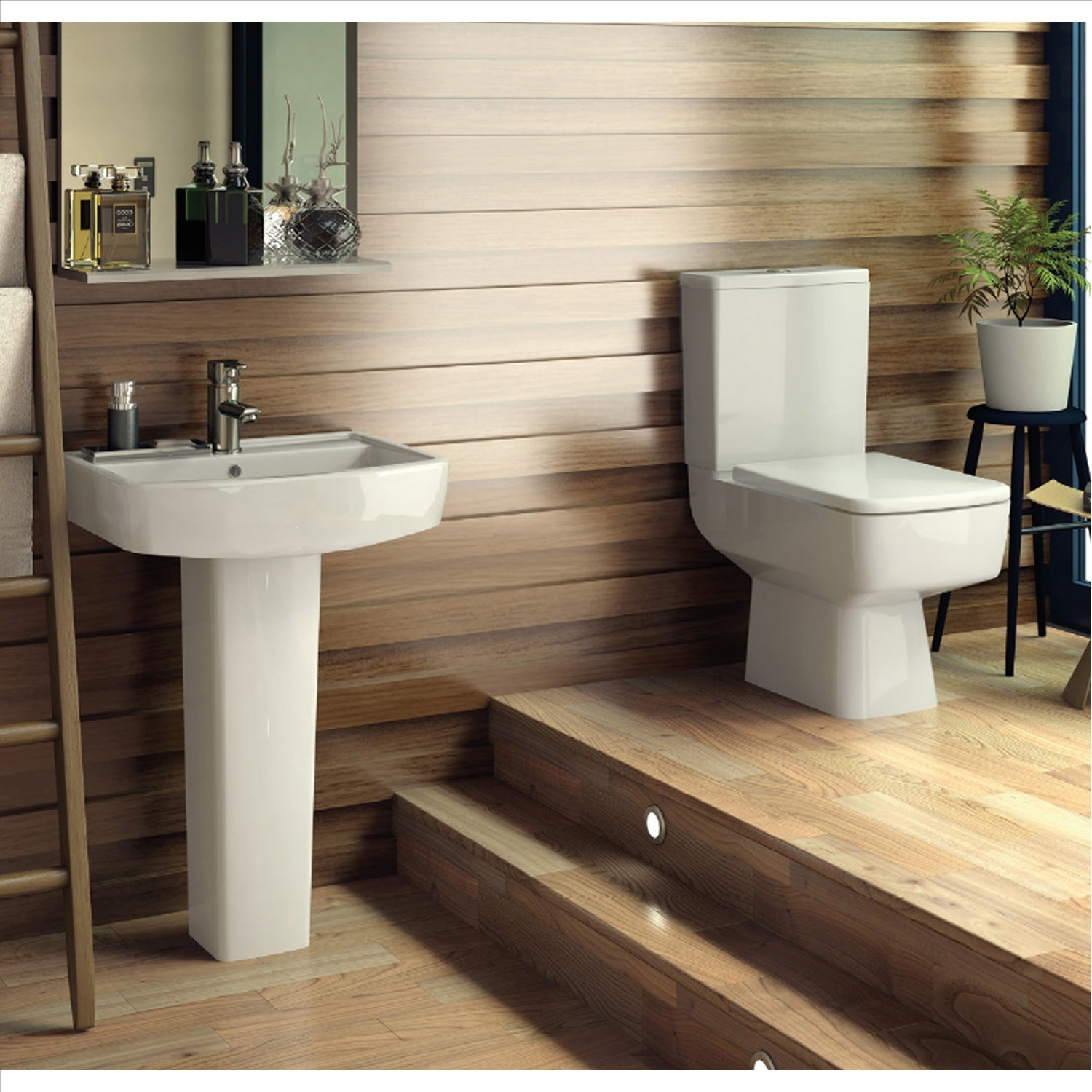 Take a Virtual Look at this Bliss Modern 4 Piece Bathroom Suite!