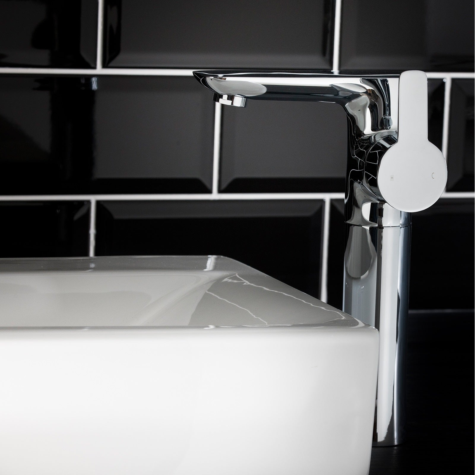 A Perfect fit for the Modern Bathroom. Introducing the Pedras High Rise Mono Basin Mixer Tap.