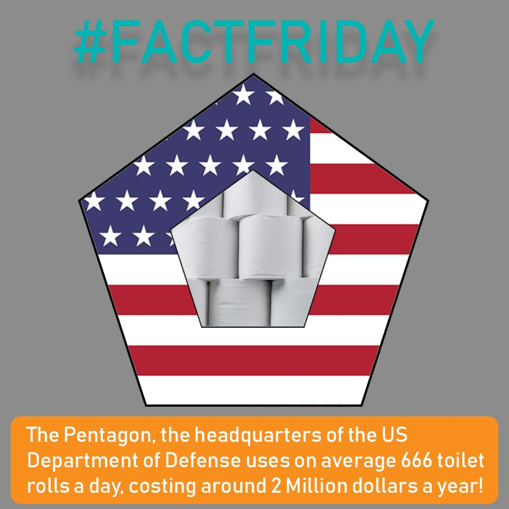 #FACTFRIDAY - 2 Million Dollars! On Toilet Roll!