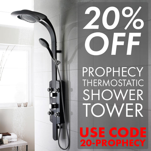 Save 20% Off the Prophecy Thermostatic Shower Tower