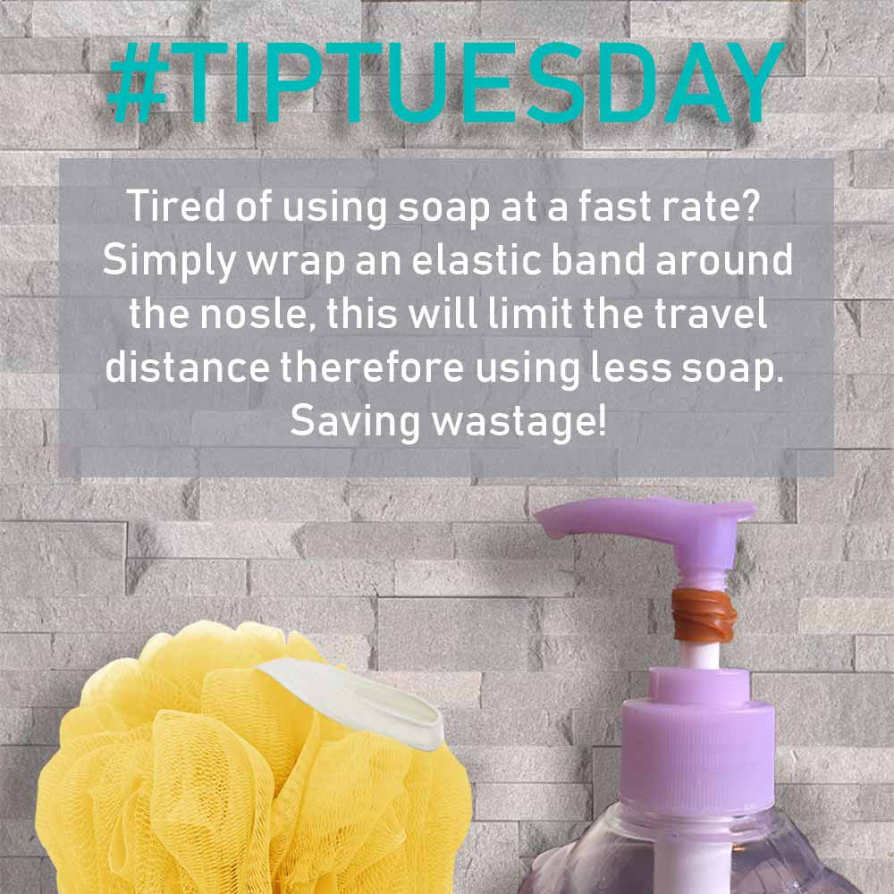 #TIP TUESDAY - Going through Soap quickly. Use an Elastic Band!