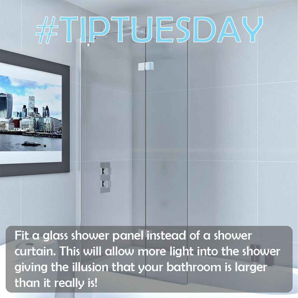 #TIPTUESDAY - Small Bathroom, Fit a Shower Panel!
