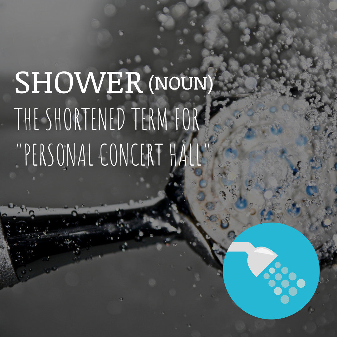 Time for a relaxing shower!