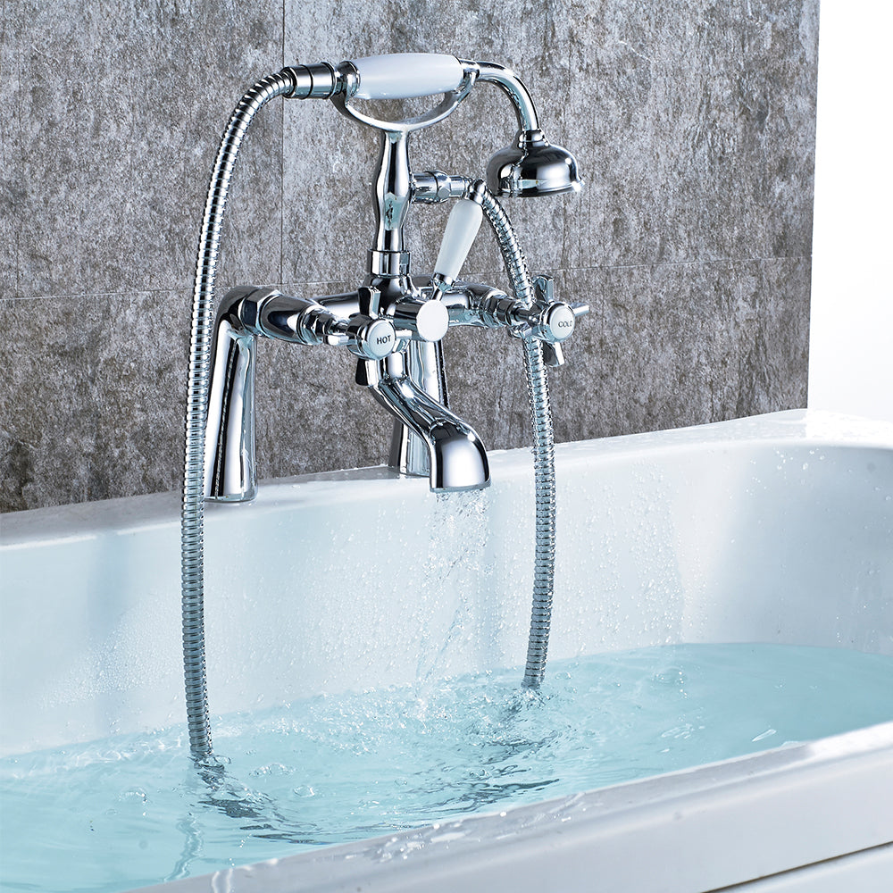 Give your bathroom a Traditional look with this Victoria Bath Shower Mixer Tap.