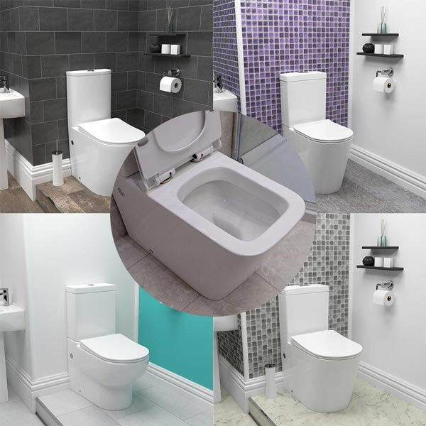 New Modern & Stylish Rimless Toilets!