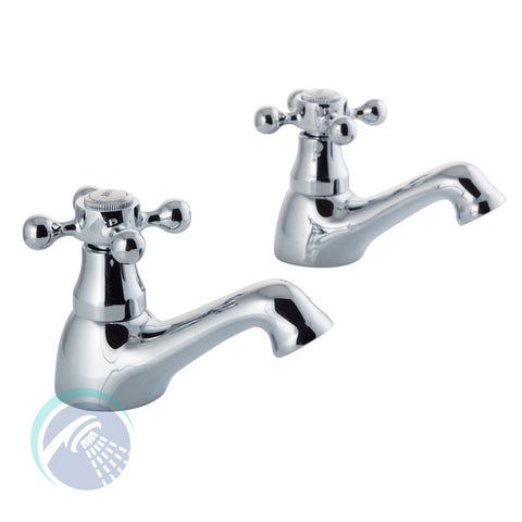 Albert Basin Taps - Pair - Bathroom Traders