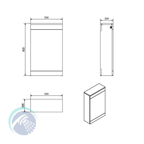 Idon 500 Gloss White WC Unit - Bathroom Traders