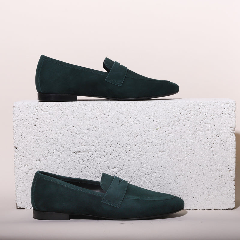 Lodi Forest Green Suede