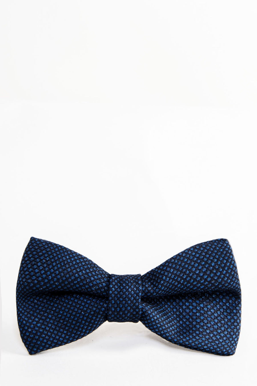 CALLUM Navy Blue Birdseye Bow Tie - Wedding Suit Direct