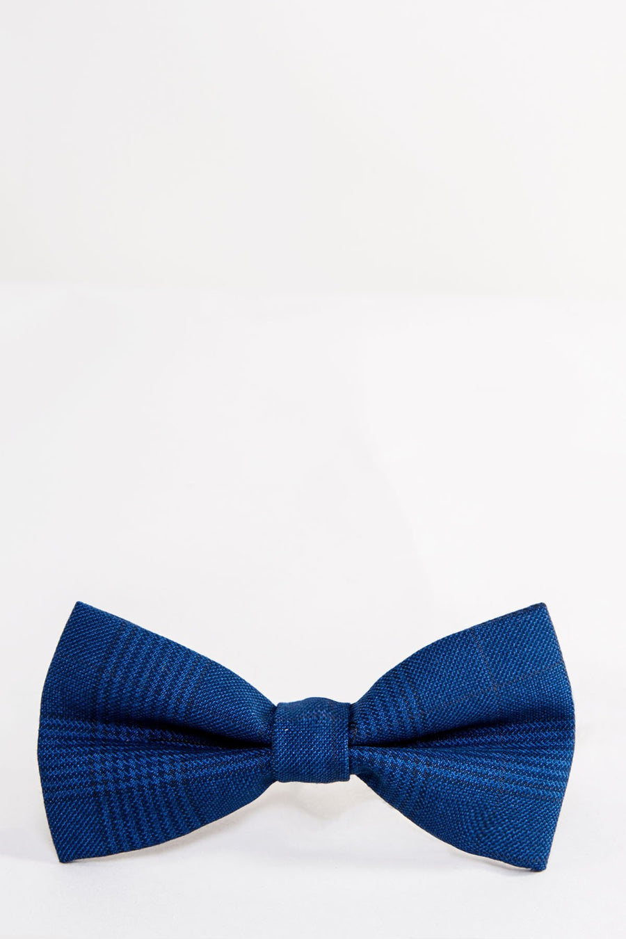 GEORGE Blue Check Bow Tie - Wedding Suit Direct