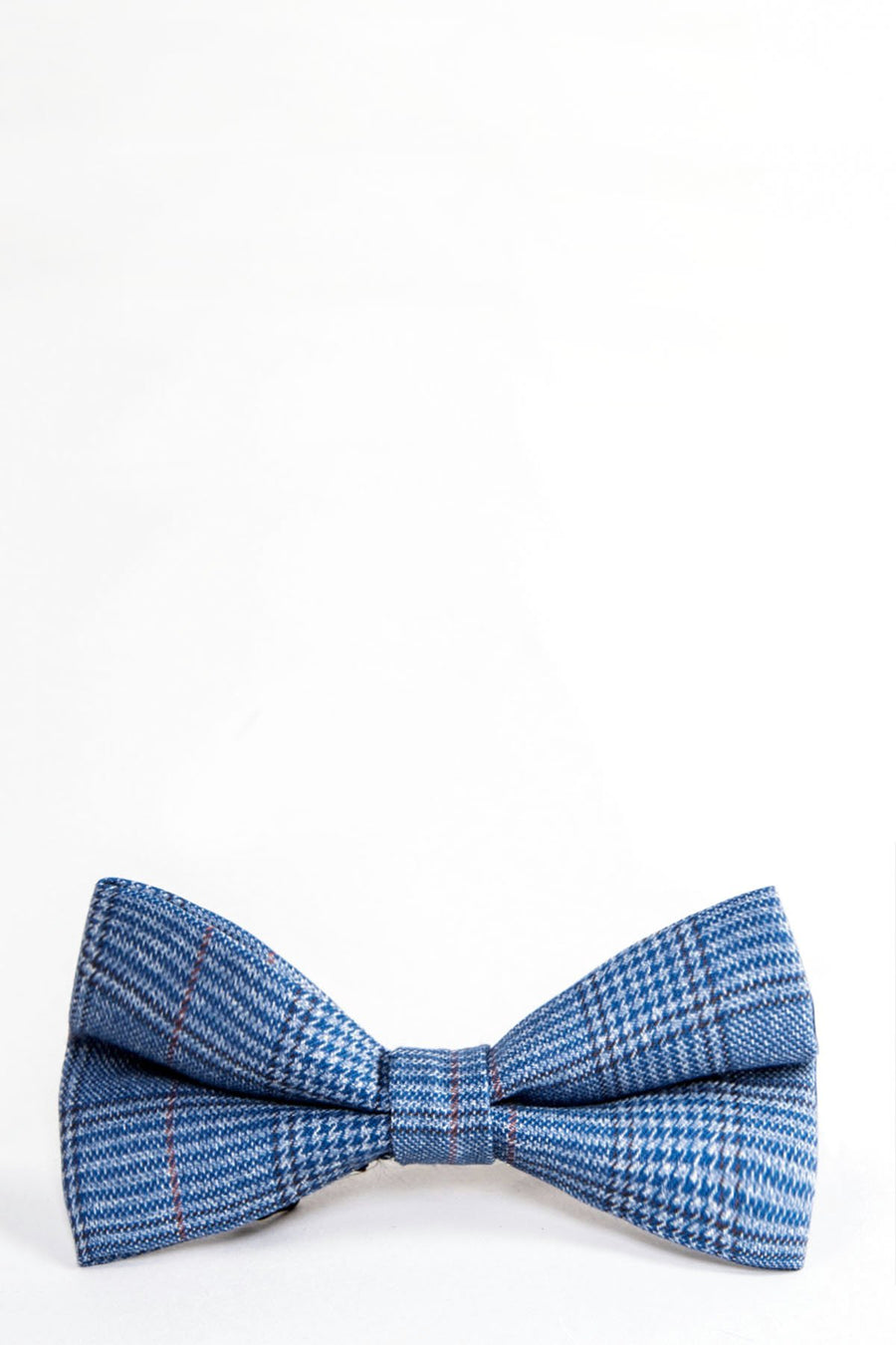 GEORGE Light Blue Check Bow Tie - Wedding Suit Direct