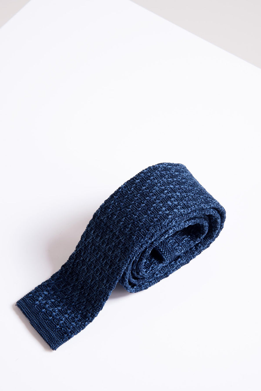 KT Blue Marl Knitted Tie - Wedding Suit Direct