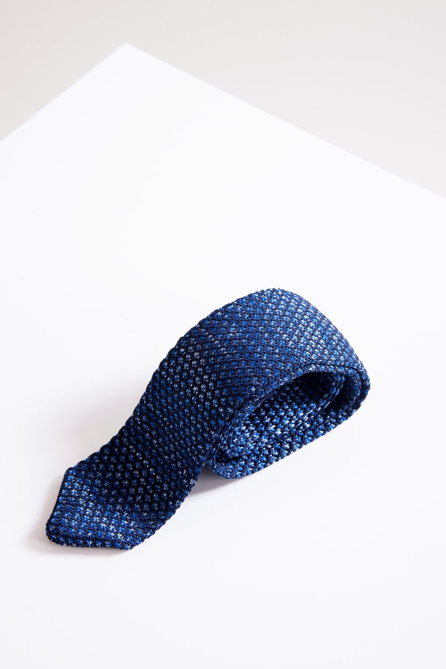 KPT Blue Diamond Knitted Tie - Wedding Suit Direct