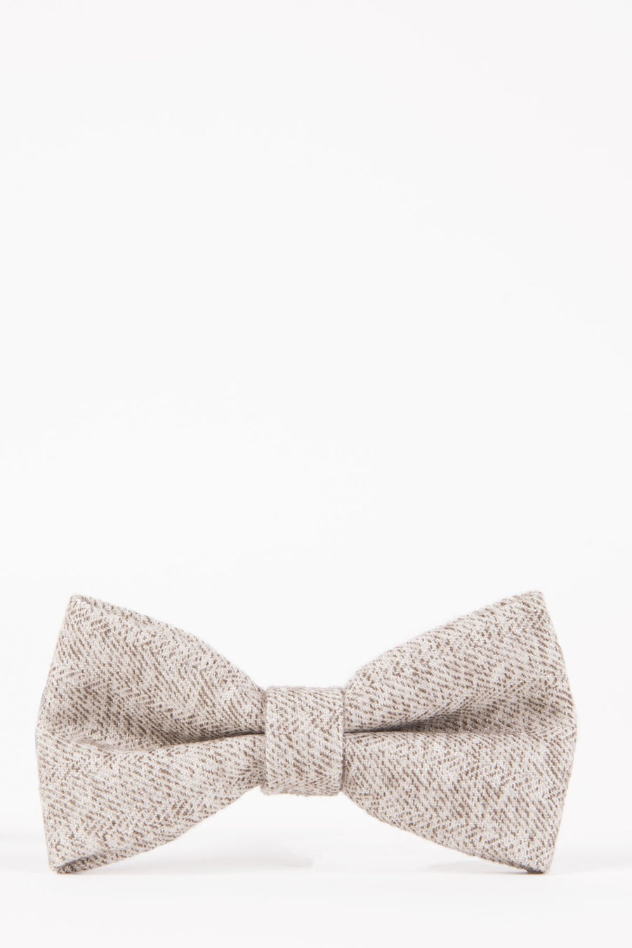 RAYFORD Cream Heritage Tweed Bow Tie - Wedding Suit Direct