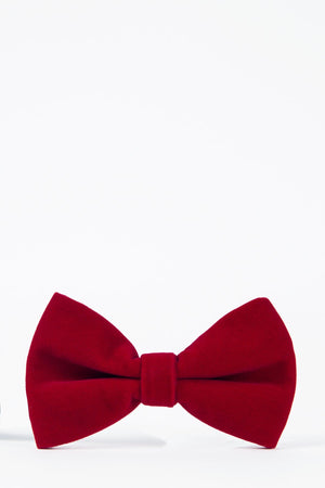 Velvet Red Bow Tie - Wedding Suit Direct