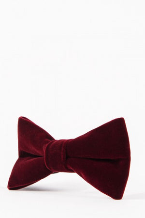 Velvet Wine Bow Tie - Wedding Suit Direct