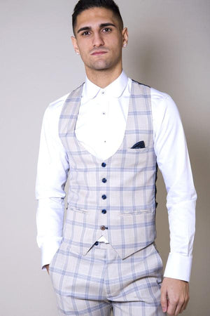 Buxton Cream Check Wedding Suit - Wedding Suit Direct