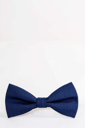 BELMONT Navy Plain Bow Tie | Marc Darcy - Wedding Suit Direct