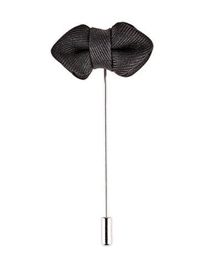 Black Bow Tie Pin - Wedding Suit Direct