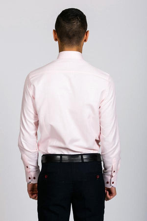 CHARLES - Pink Button Down Collar Shirt - Wedding Suit Direct