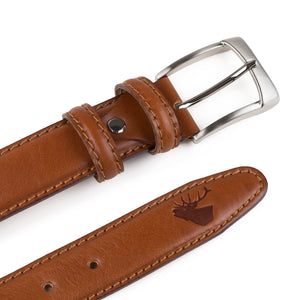 Harley Tan Leather Belt - Wedding Suit Direct