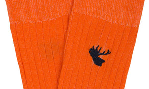 Arthur Orange Socks - Wedding Suit Direct