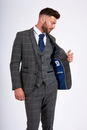 Berlin Grey Tweed Wedding Suit | Wedding Suits Direct | Mens Suits