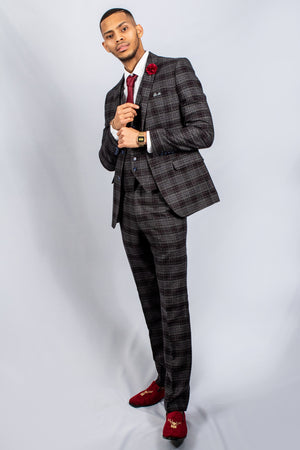 Albert Grey Check Tweed Suit | Robert Simon - Wedding Suit Direct