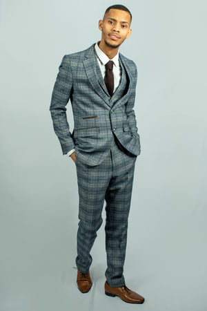 Isak Tweed Suit | Robert Simon - Wedding Suit Direct