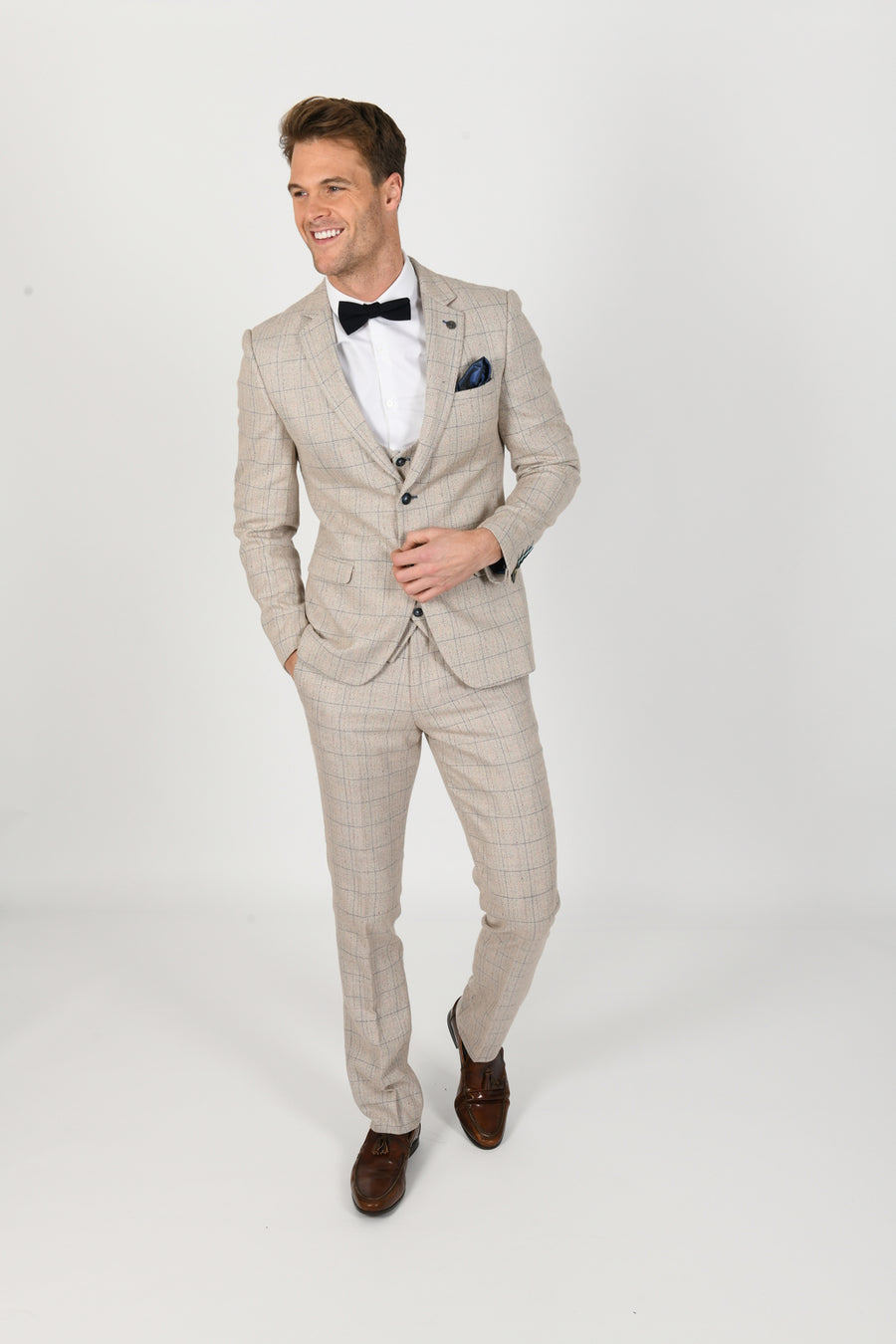 Harding Wedding Suit w/ Single Breasted Waistcoat - Wedding Suit Direct