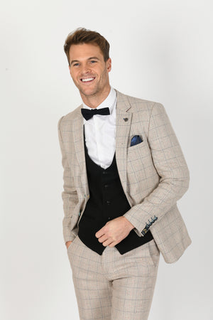 Harding Suit w/ Kelly Black Waistcoat - Wedding Suit Direct