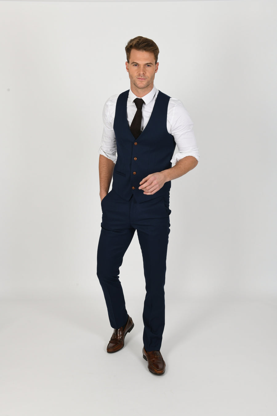 Max Royal Blue Wedding Waistcoat - Wedding Suit Direct