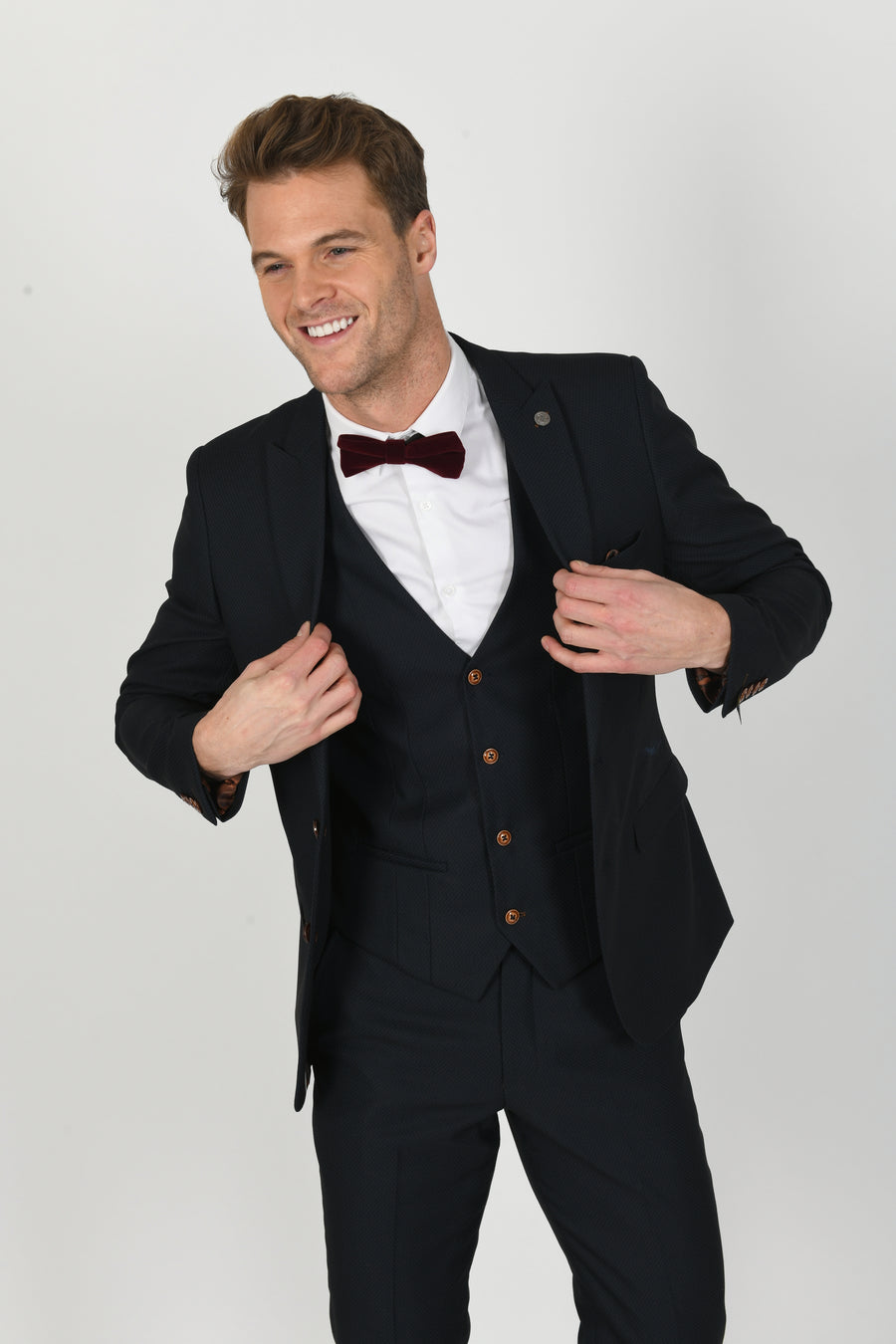 Max Navy Wedding Jacket - Wedding Suit Direct