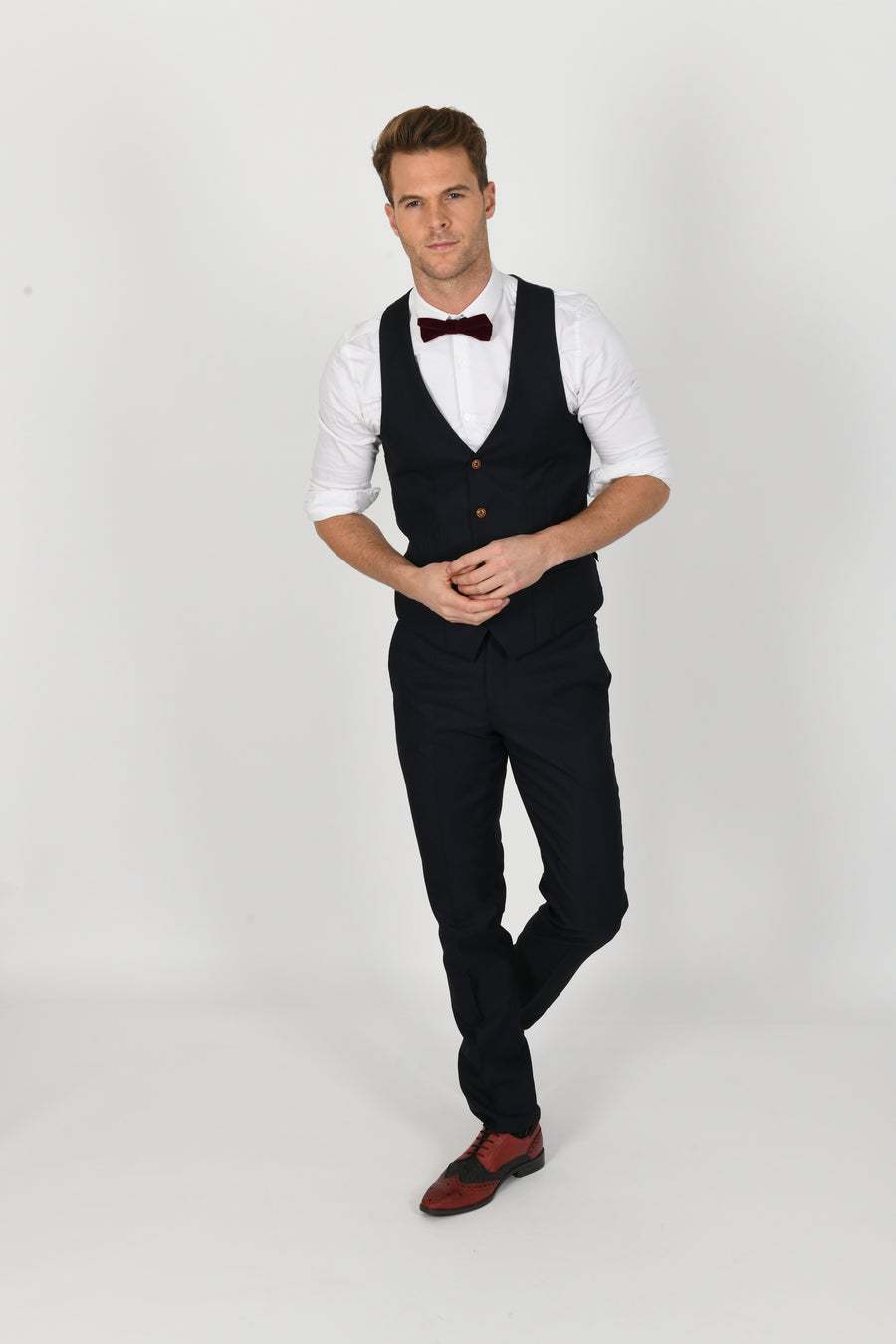 Max Navy Wedding Waistcoat - Wedding Suit Direct
