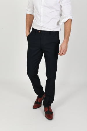 Max Navy Wedding Trousers - Wedding Suit Direct