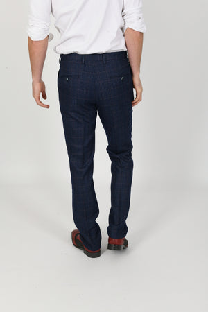 Harry Blue Wedding Trousers - Wedding Suit Direct
