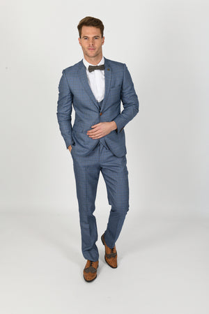 George Light Blue Wedding Suit - Wedding Suit Direct