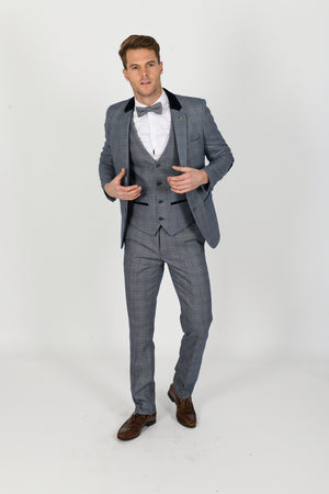 Hilton Wedding Suit w/ Single Breasted Waistcoat - Wedding Suit Direct