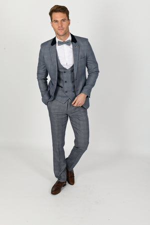 Hilton Wedding Suit w/ Double Breasted Waistcoat - Wedding Suit Direct