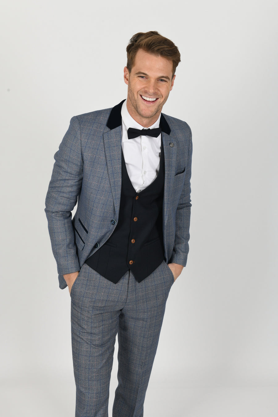 Hilton Suit w/ Kelly Black Waistcoat - Wedding Suit Direct