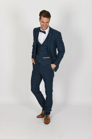 Dion Blue Wedding Suit - Wedding Suit Direct