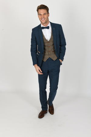 Dion Suit w/ Ted Tan Waistcoat - Wedding Suit Direct