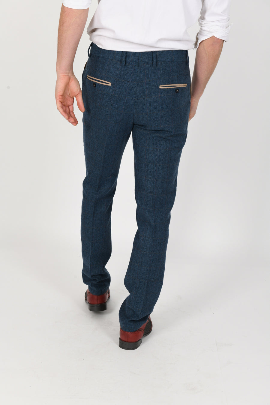 Dion Blue Wedding Trousers - Wedding Suit Direct