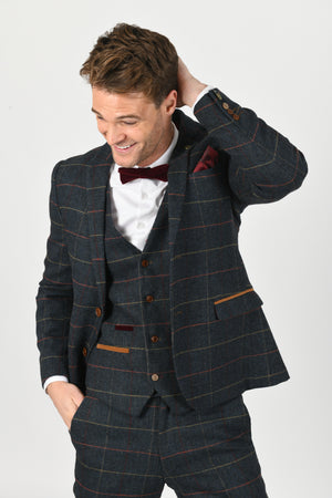 Eton Navy Wedding Jacket - Wedding Suit Direct