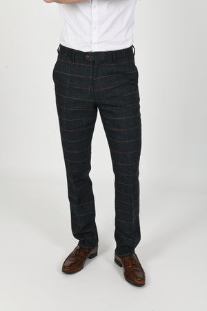 Eton Navy Wedding Trousers - Wedding Suit Direct