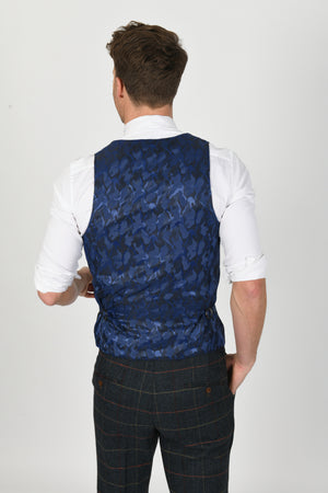 Eton Navy Wedding Waistcoat - Wedding Suit Direct