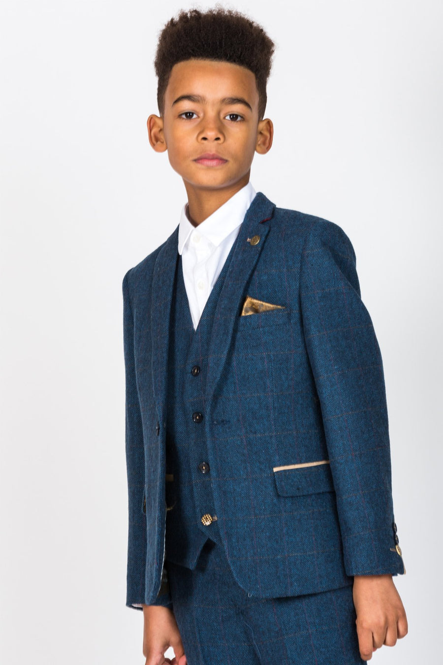 Dion Blue Boys Wedding Suit - Wedding Suit Direct